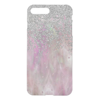 Iridescnet Pink and Silver iPhone7 Plus Case