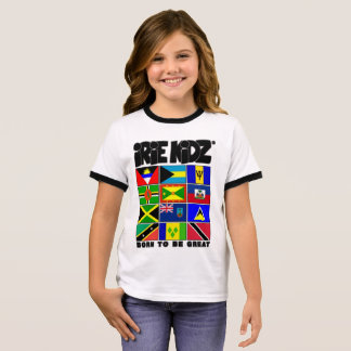 IRIE KIDZ® Caribbean Flag Girls T-shirt
