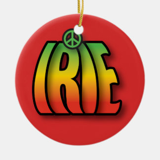 IRIE Peace Ceramic Ornament