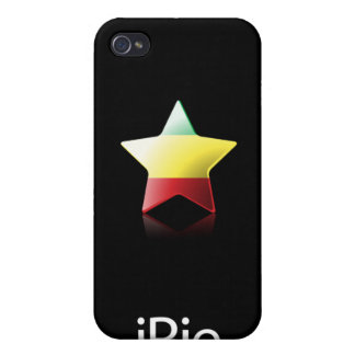 iRie Rasta Star on Black (iPhone 4 case) iPhone 4 Cases