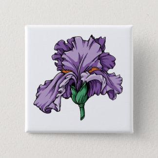 Iris 2 Inch Square Button
