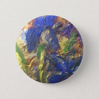 Iris Abstract 2 Inch Round Button