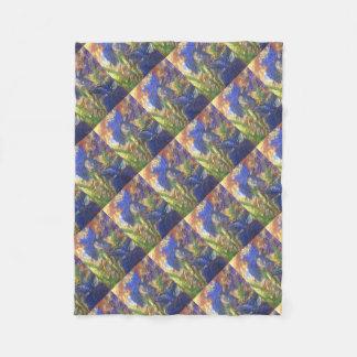 Iris Abstract Fleece Blanket