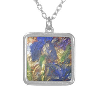 Iris Abstract Silver Plated Necklace