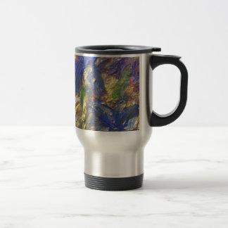 Iris Abstract Travel Mug