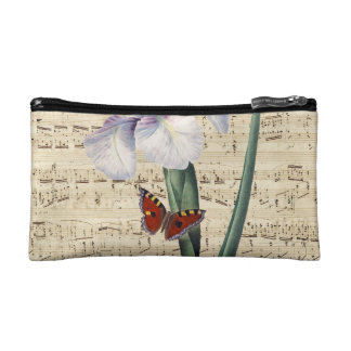 iris and butterfly music cosmetic bag