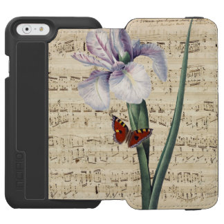 iris and butterfly music incipio watson™ iPhone 6 wallet case