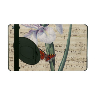 iris and butterfly music iPad cover