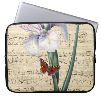 iris and butterfly music laptop sleeve