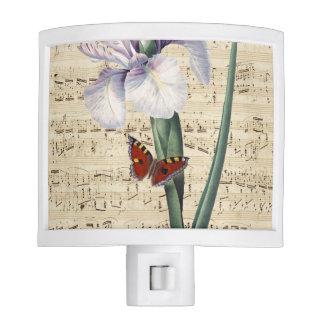 iris and butterfly music night lights