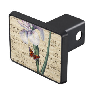 iris and butterfly music trailer hitch cover