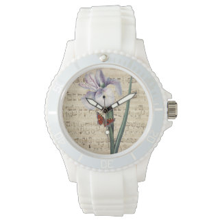 iris and butterfly music watch