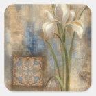Iris and Tile Square Sticker