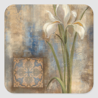Iris and Tile Square Sticker