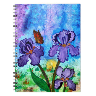Iris at Sunrise 6.5 x 8.75 Spiral Notebook