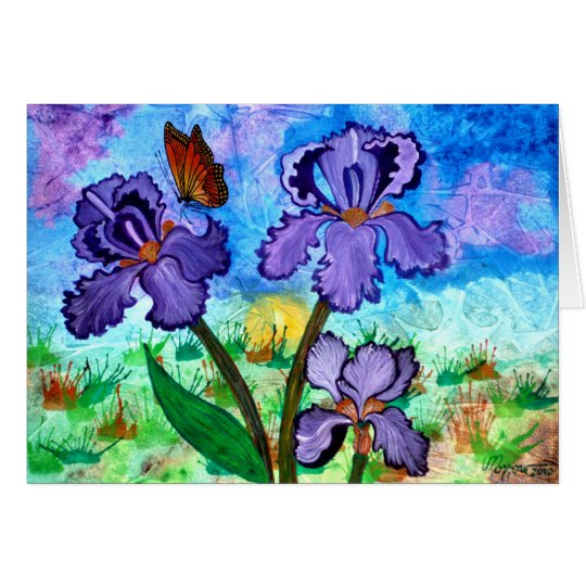 Iris at Sunrise Greeting Card