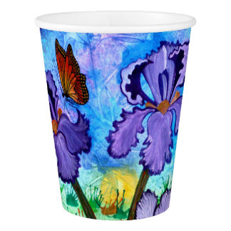Iris at Sunrise Paper Cups Paper Cup