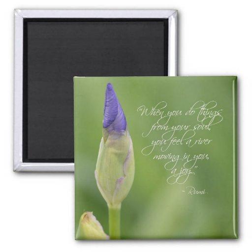 Iris avec la citation magnets pour réfrigérateur