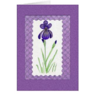 Iris Birthday Card (Large Print)