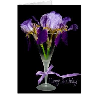 Iris Birthday Drink Card