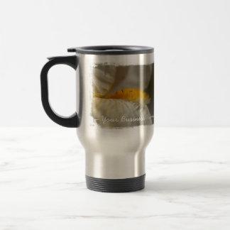 Iris blanc et jaune ; Promotionnel Mug De Voyage En Acier Inoxydable