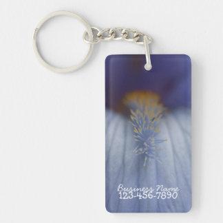 Iris bleu et jaune de BLYE Porte-clé Rectangulaire En Acrylique Une Face