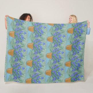 Iris Blossoms Fleece Blanket