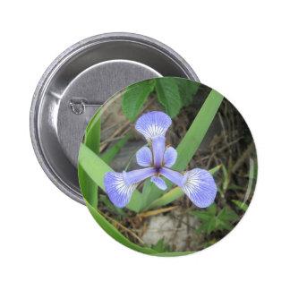Iris Blue Flag Flower 2 Inch Round Button