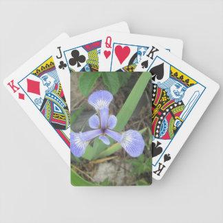 Iris Blue Flag Flower Poker Deck