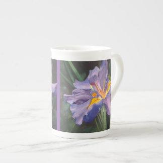 Iris bone china tea cup