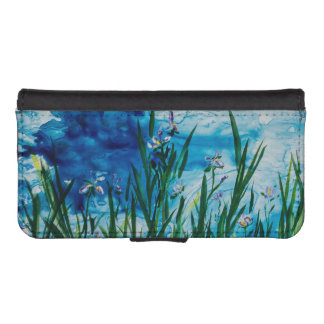 Iris by the Water Edge iPhone 5/5s Wallet Case