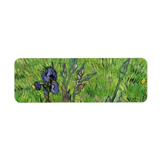 Iris by Vincent van Gogh, Vintage Garden Fine Art Return Address Label