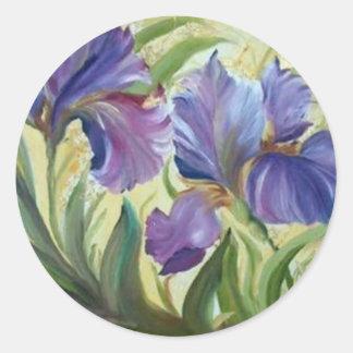 Iris Classic Round Sticker