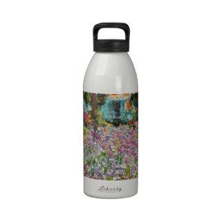 Iris dans le jardin de Monet Bouteille D'eau Réutilisable