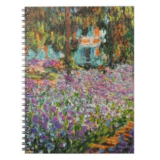 Iris dans le jardin de Monet Carnet À Spirale