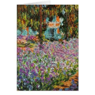 Iris dans le jardin de Monet Carte