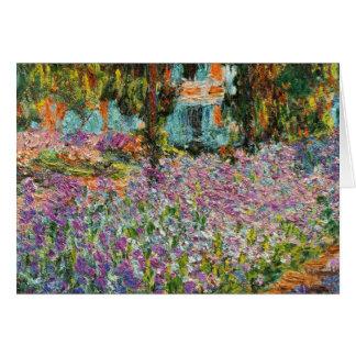 Iris dans le jardin de Monet Cartes De Vœux