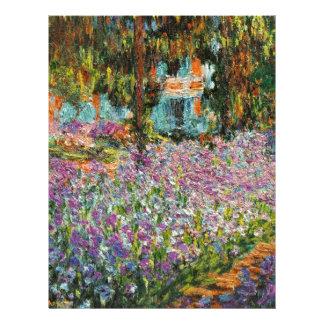 Iris dans le jardin de Monet Modèle D'en-tête De Lettre
