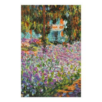 Iris dans le jardin de Monet Papier À Lettre