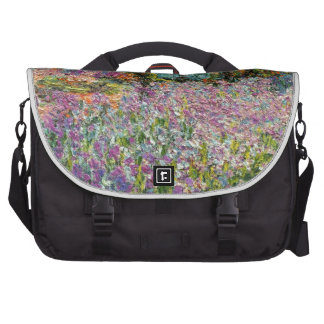 Iris dans le jardin de Monet Sacs Pour Ordinateurs Portables