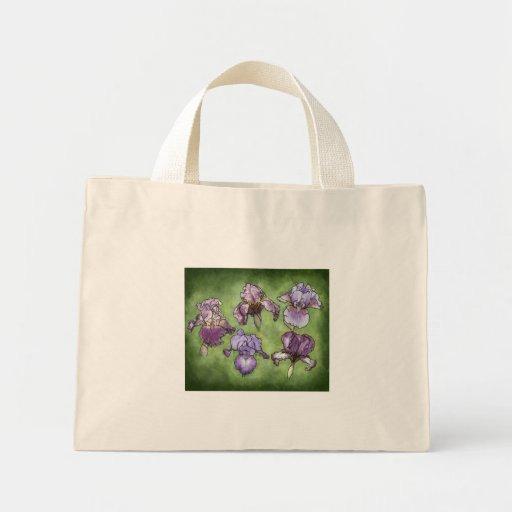 Iris dans le pourpre sac