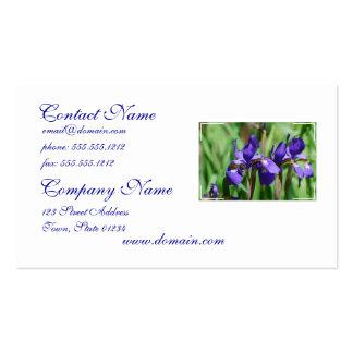 Iris de floraison modèle de carte de visite