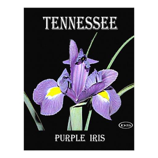 Iris de pourpre du Tennessee Modèle D'en-tête De Lettre