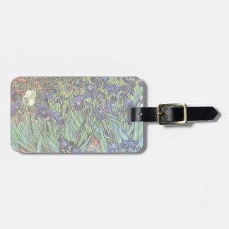 Iris de Van Gogh, art vintage de post Étiquette À Bagage