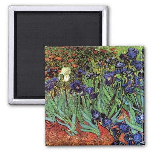 Iris de Van Gogh, art vintage de post Aimant Pour Réfrigérateur