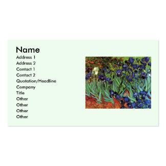 Iris de Van Gogh, art vintage de post Modèle De Carte De Visite