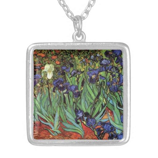 Iris de Van Gogh, art vintage de post Colliers