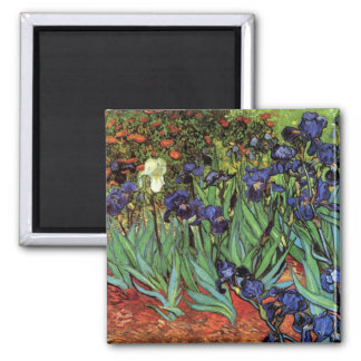 Iris de Van Gogh, art vintage de post impressionni Aimant Pour Réfrigérateur