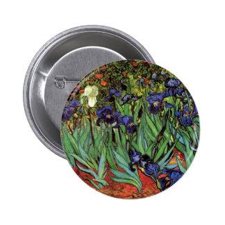 Iris de Van Gogh, art vintage de post impressionni Pin's Avec Agrafe