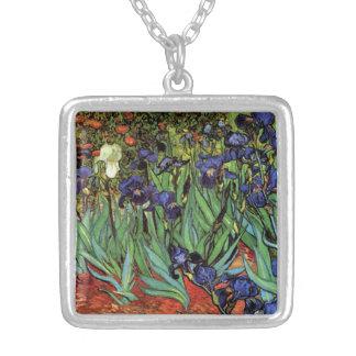 Iris de Van Gogh, art vintage de post impressionni Colliers